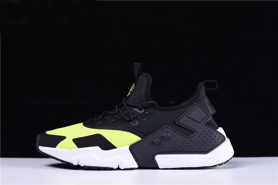 Mens and WMNS Nike Air Huarache Drift Black/Volt Running Shoes AH7334-700