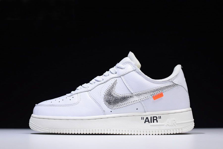 2018 Off-White x Nike Air Force 1 Low ComplexCon White/Metallic Silver-Sail AO4297-100