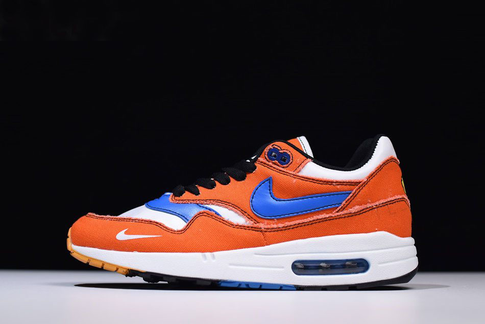Custom Dragon Ball Z x Nike Air Max 1 Goku Orange/Blue/White Men's Size