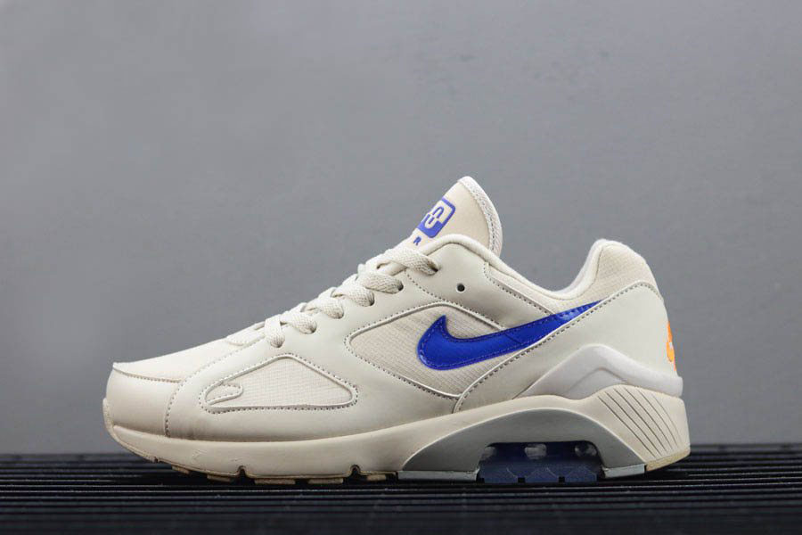 Men's Nike Air Max 180 Desert Sand/Racer Blue-Total Orange AQ9974-002