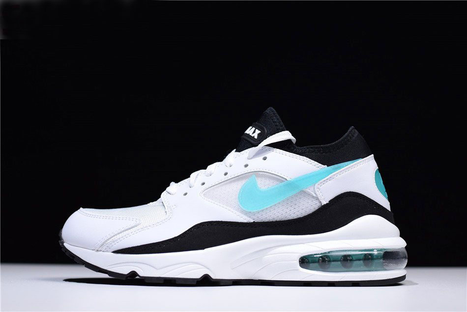 Mens and WMNS Nike Air Max 93 OG Dusty Cactus White/Sport Turquoise-Black 306551-107