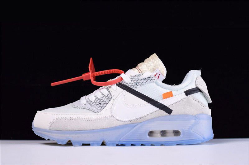 f0f970ed Mens and WMNS Virgil Abloh's OFF-WHITE x Nike Air Max 90 Ice The Ten