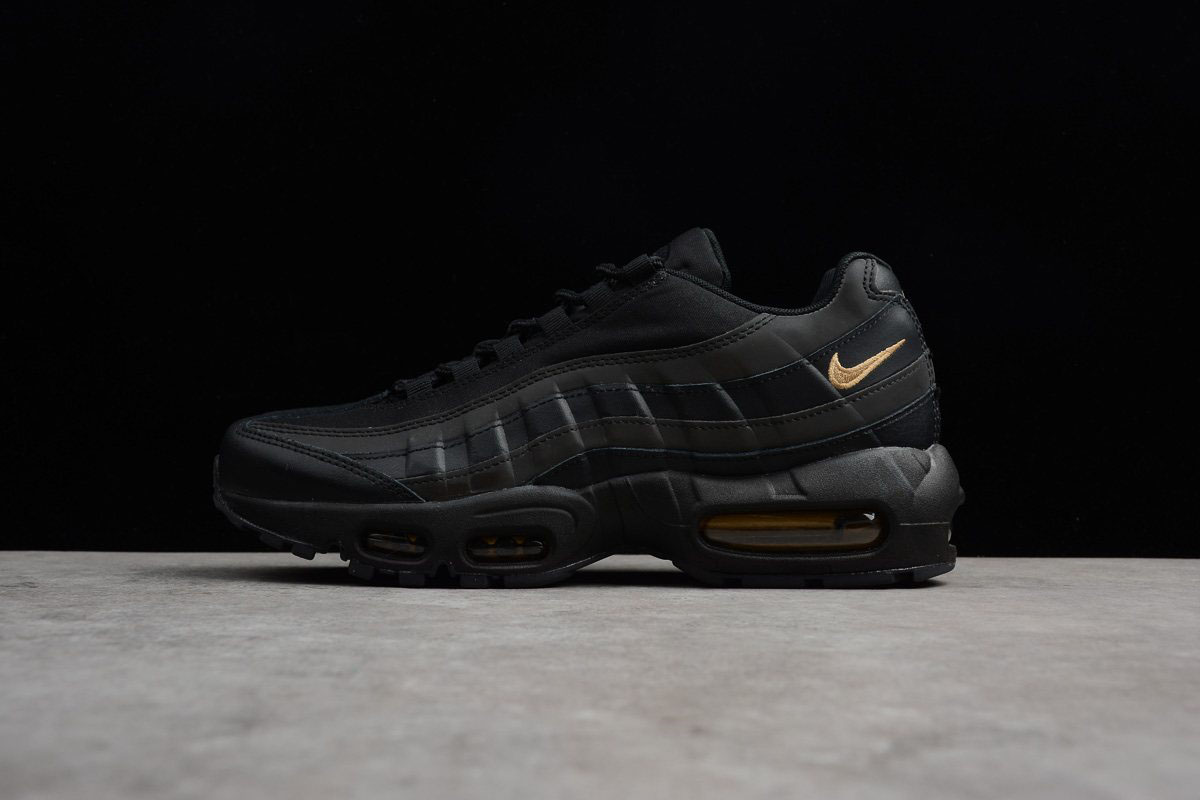 Newest Nike Air Max 95 Premium SE Black/Metallic Gold 924478-003