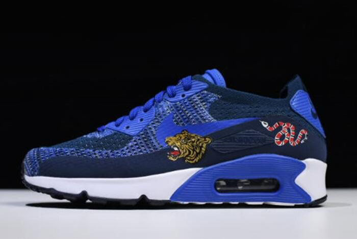 Nike Air Max 90 Ultra 2.0 Flyknit Dark University Blue/White 875943-400