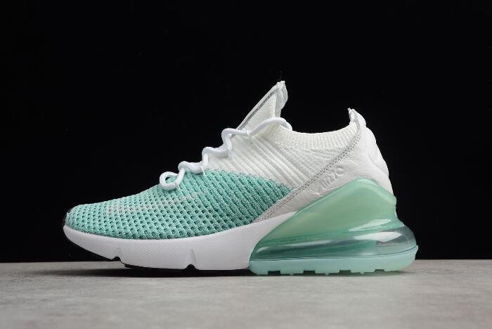 Nike WMNS Air Max 270 Flyknit Igloo White/Clear Emerald-Black AH6803-301