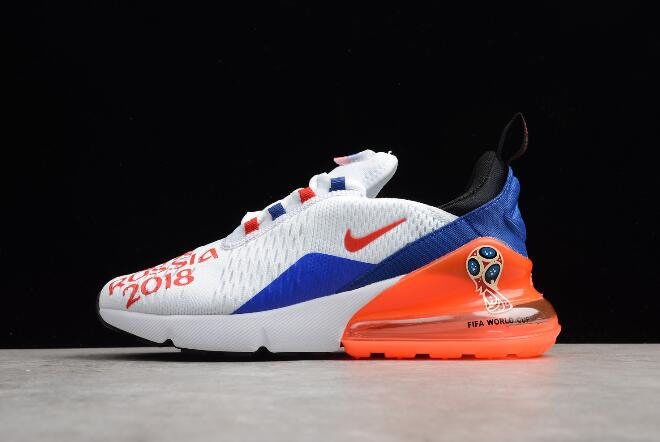 WMNS Nike Max 270 FIFA World Cup Russia 2018 White/Racer Blue-Unvrsty Red AQ7982-406