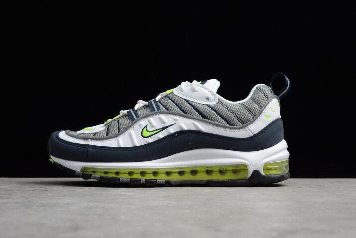 Nike Air Max 98 OG Volt Cool Grey/Volt-Black-Metallic Silver Men's Size