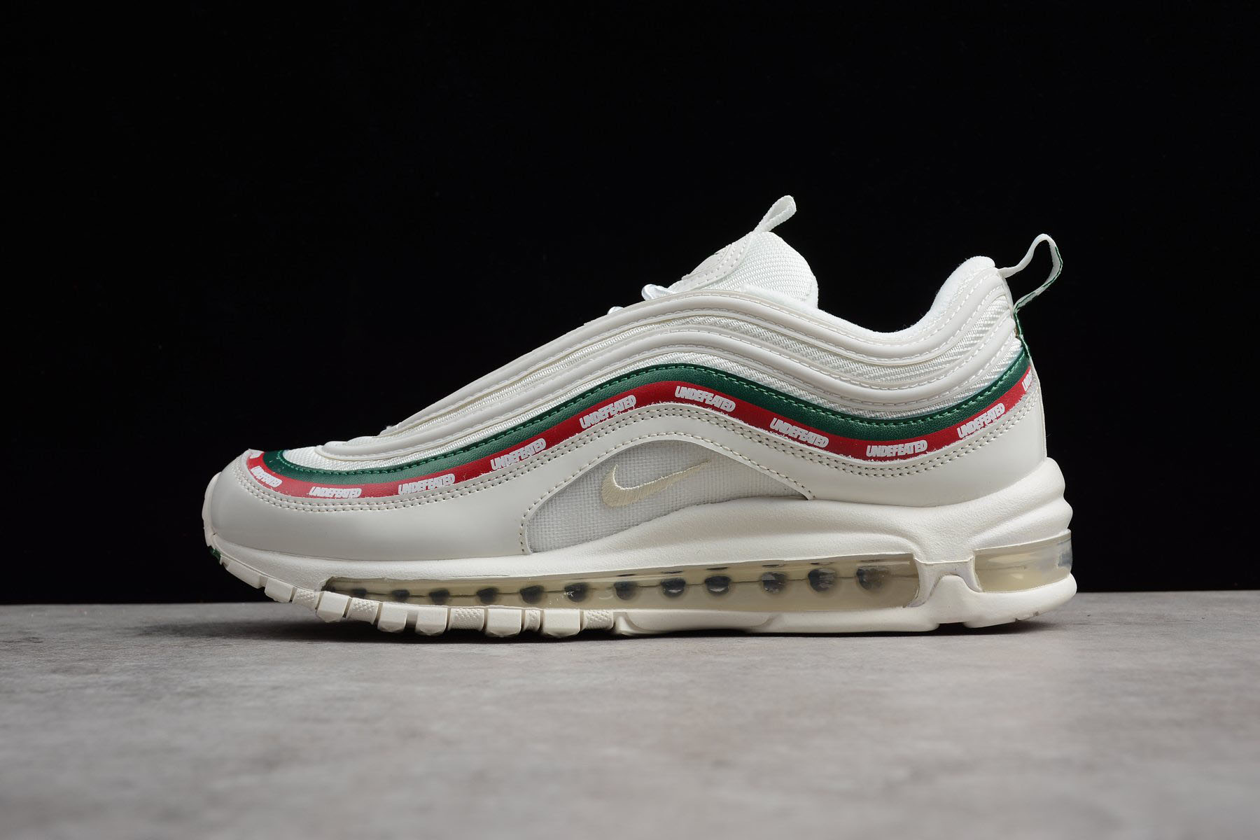 Mens and WMNS Undefeated x Nike Air Max 97 OG in White AJ1986-100 For Sale