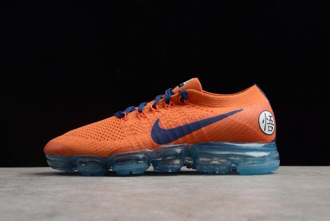 Men's Nike Air Vapormax Flyknit 2.0 Fresh Orange/Dark Blue AA3858-102
