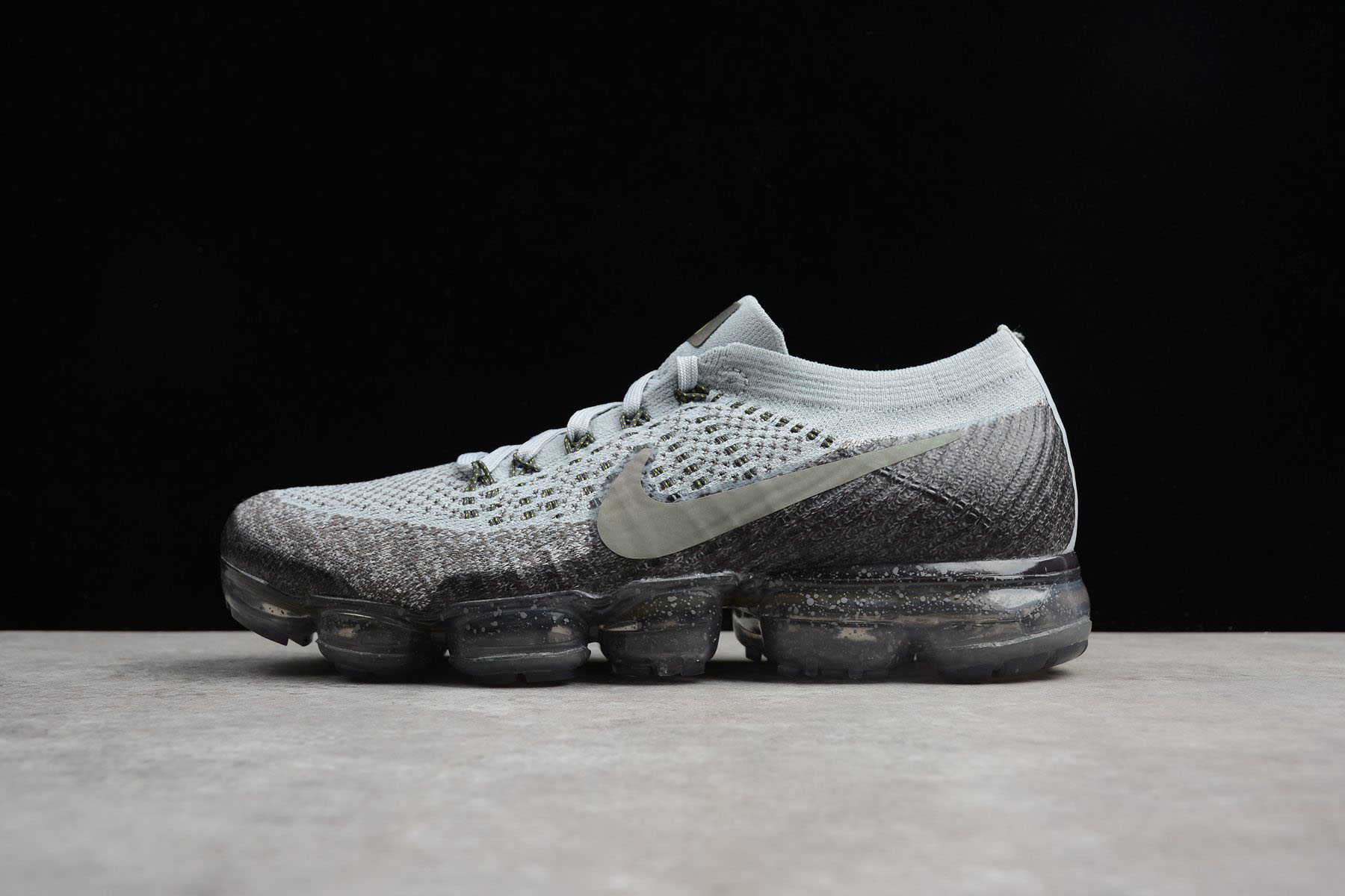 Nike Air Vapor Max 2018 Flyknit Black/Light Grey-Yellow 849558-012