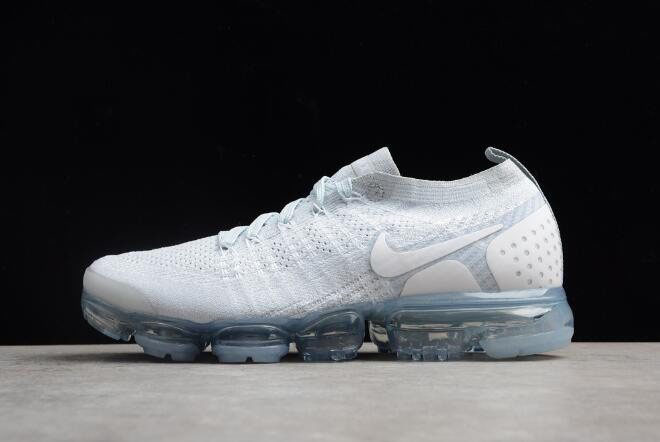 Nike Air VaporMax Flyknit 2.0 White/Grey-White Men's Running Shoes 942842-004