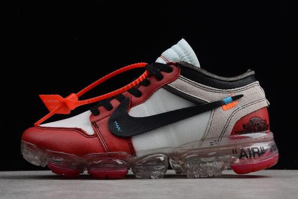 Off-White x Nike Air VaporMax x Air Jordan 1 Chicago White/Black-Varsity Red AA3830-003