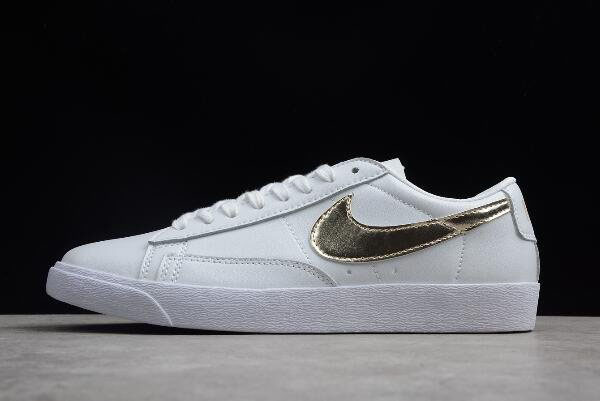 Women's Nike Blazer Low LE White/Metallic Gold Star AA3961-103