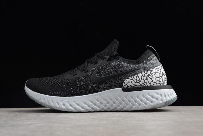 Nike Epic React Flyknit Black Gray White Men's and Women's Size Running Shoes AQ0067-991