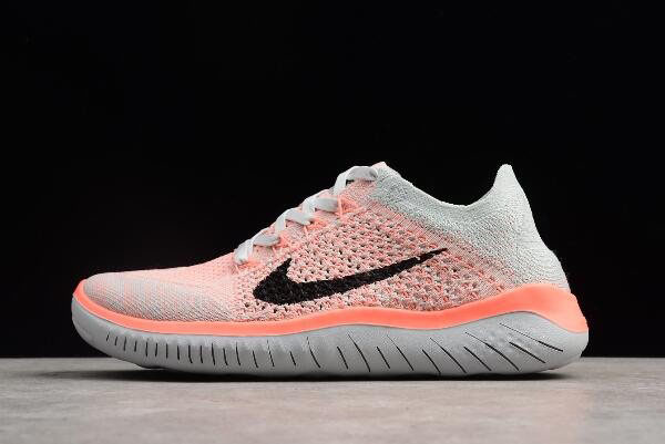 Nike Free Run Flyknit 2018 Crimson Pulse/Pure Platinum-Black Women's Running Shoes