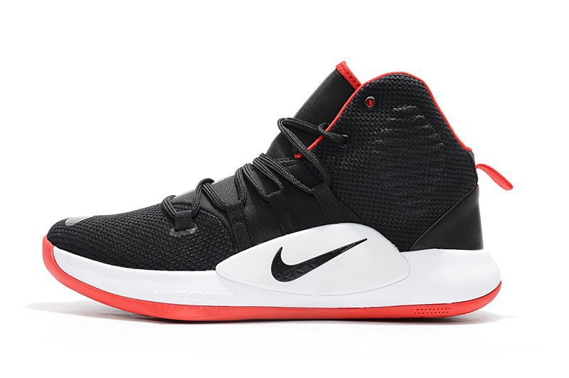 Men's Nike Hyperdunk X Bred Black/Varsity Red-White Basketball Shoes