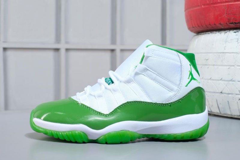 2018 Air Jordan 11 Apple Green/White Shoes M07105634