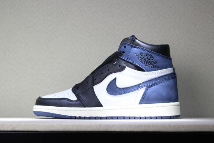 Air Jordan 1 Retro High OG Blue Moon Men's Basketball Shoes 555088-115