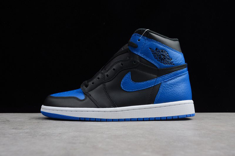 Air Jordan 1 Retro High OG Royal Black/Varsity Royal-White 555088-007