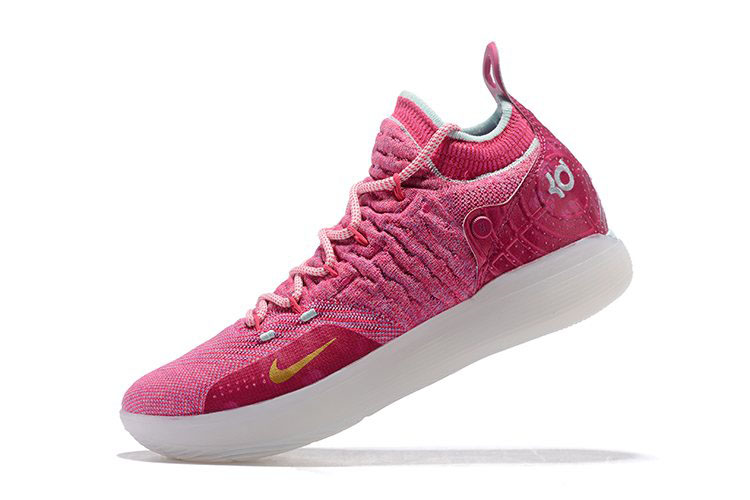 Nike KD 11 Pink White Men's Basketball Shoes Free Shipping