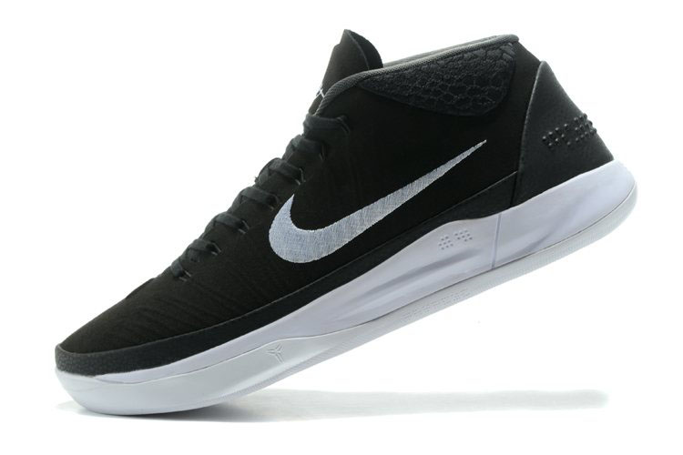 Nike Kobe A.D. Mid Black/White Men's Basketball Shoes Free Shipping