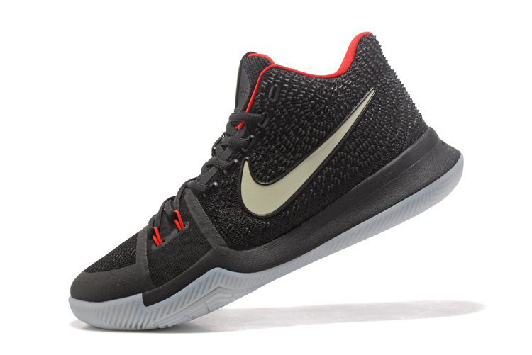 Glow in the Dark Nike Kyrie 3 Black Red Men's Basketball Shoes