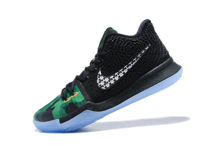 New Nike Kyrie 3 Halloween Black Green White Men's Basketball Shoes