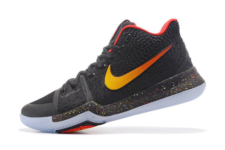 New Nike Kyrie 3 Black/Red-Gold Men's Basketball Shoes