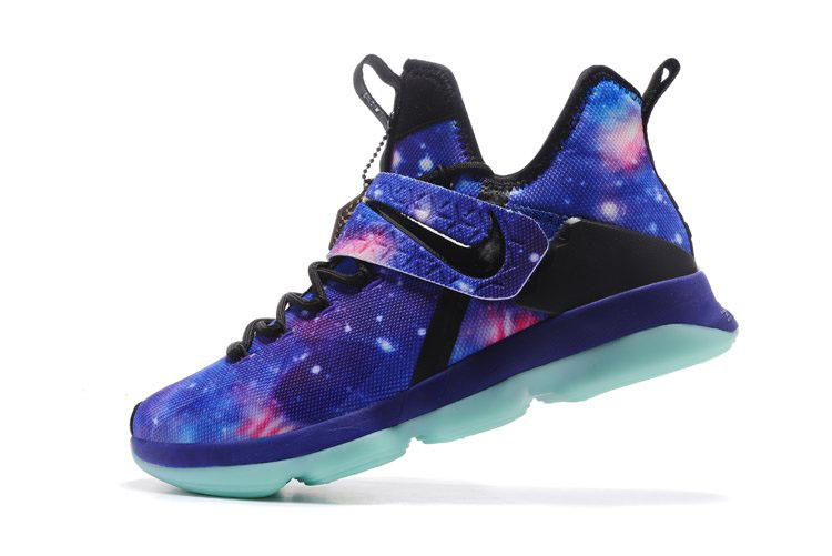 Men's Nike LeBron 14 Galaxy Glow In The Dark Basketball Shoes For Sale