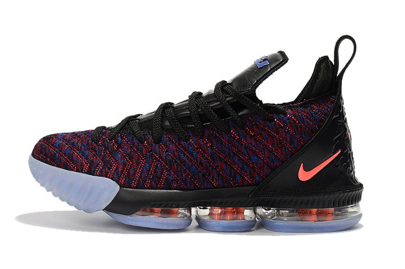Men's Nike LeBron 16 Black/Multicolor-Orange Basketball Shoes For Sale