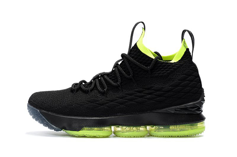Nike LeBron 15 Black/Volt Men's Basketball Shoes For Sale