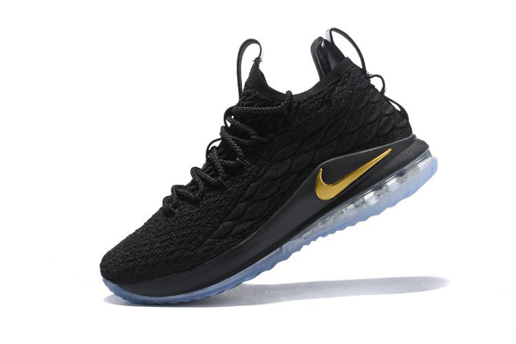 Nike LeBron 15 Low Black/Metallic Gold Men's Basketball Shoes