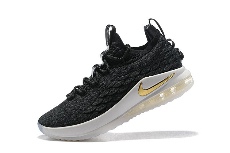 Nike LeBron 15 Low Black/Metallic Gold-Phantom Men's Basketball Shoes