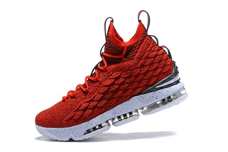 Nike LeBron 15 University Red/White Men's Basketball Shoes