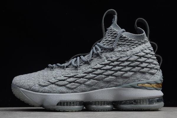 Nike Lebron 15 XV EP City Edition Wolf Grey/Metallic Gold 897649-005
