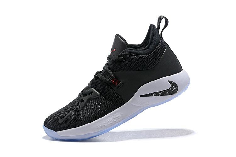 Men's Nike PG 2 Taurus Black/White-Solar Red Basketball Shoes AJ2039-003