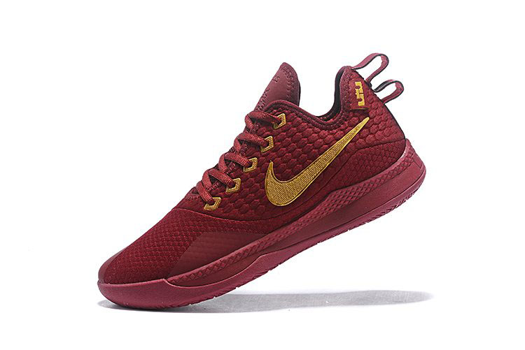 Nike Lebron Witness 3 Red Wine/Metallic Gold For Sale
