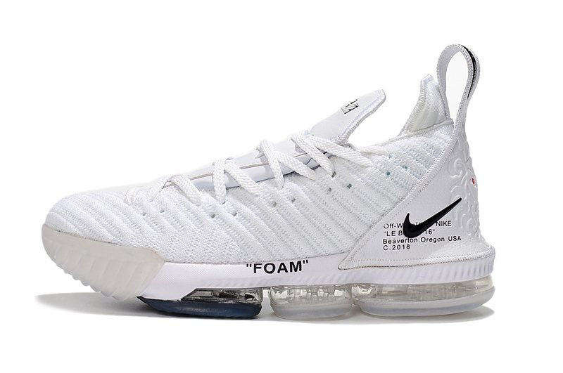 2018 Off-White x Nike LeBron 16 White Men's Basketball Shoes For Sale