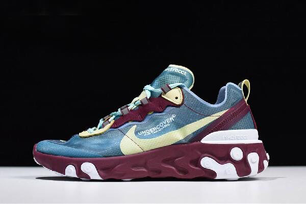 Undercover x Nike React Element 87 Blue/Gold/Purple/White AQ1813-001 Free Shipping
