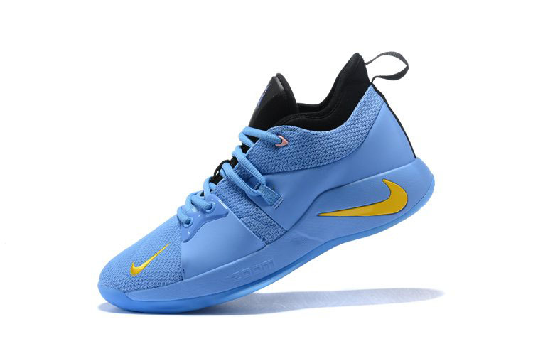 Nike PG 2 Blue Black Yellow Men's Basketball Shoes