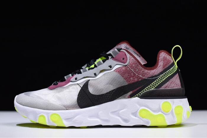 Nike React Element 87 Desert Sand/Cool Grey-Smokey Mauve AQ1090-002 For Sale