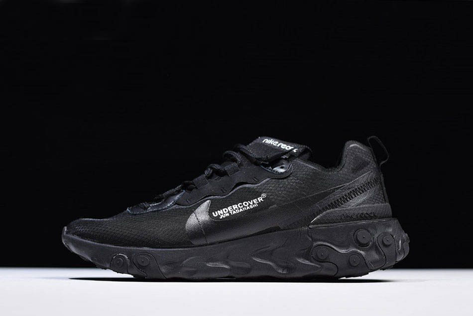 Undercover x Nike React Element 87 Triple Black AQ1813-336 Free Shipping