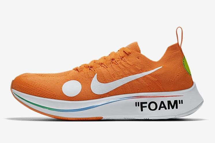 2018 Off-White x Nike Zoom Fly Mercurial Flyknit Total Orange/White-Volt AO2115-800