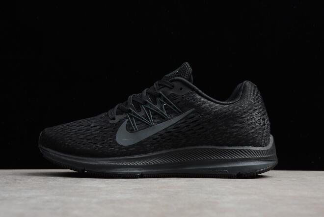 Men's and Women's Nike Zoom Winflo 5 Black/Anthracite Running Shoes AA7406-002