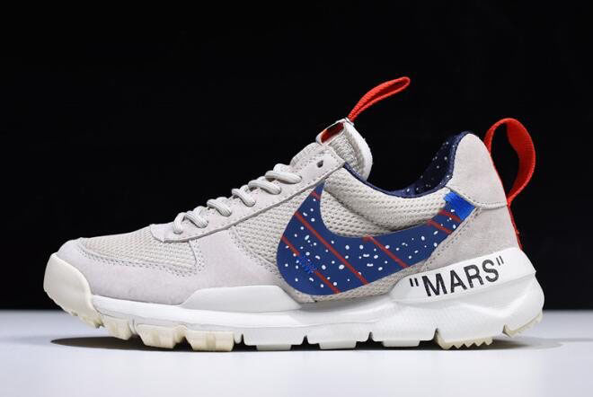 Off-White x Moon Landing x Tom Sachs x NikeCraft Mars Yar 2.0 Grey/Blue-Gym Red AA2261-007