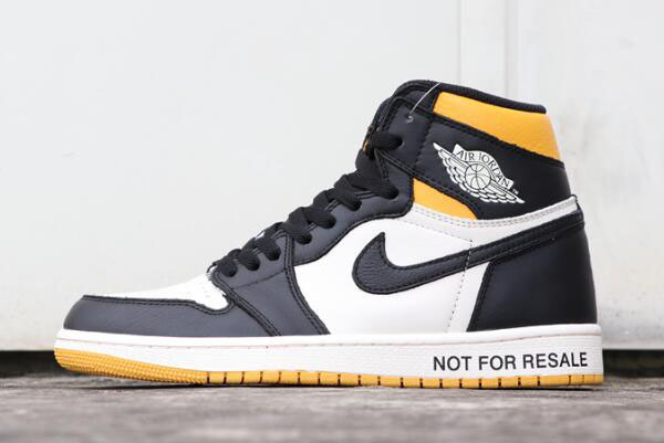 "Air Jordan 1 Retro High OG NRG ""No L's"" Sail/Black-Varsity Maize 861428-107"