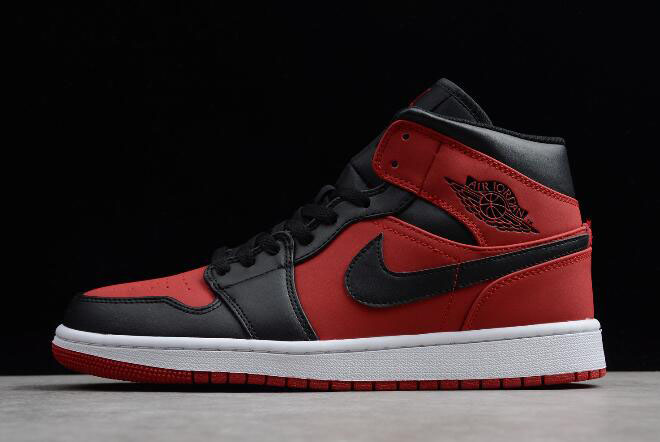 "Air Jordan 1 Mid ""Banned"" Gym Red/Black-White 554724-610"
