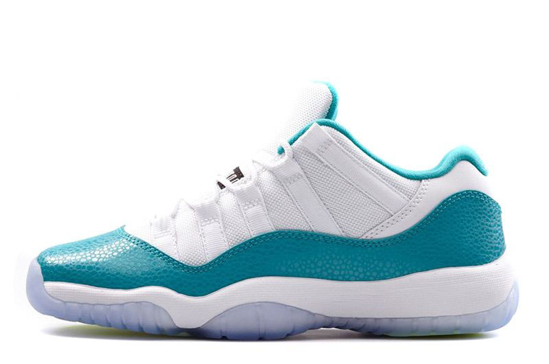 Air Jordan 11 Low Aqua White/Turbo Green-Volt Ice-Black 580521-143