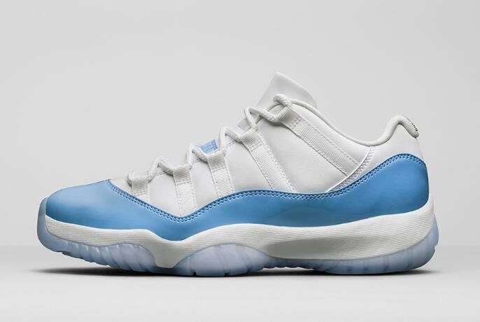 Air Jordan 11 Low UNC White/University Blue Men's Size 528895-106