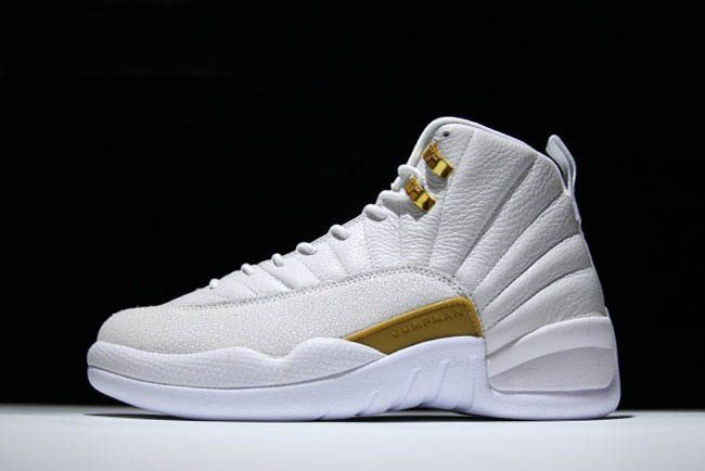 Air Jordan 12 OVO White/Metallic Gold-White 873864-102